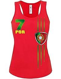 FOOTBALL WORLD CUP - EUROPEAN CHAMPIONSHIP PORTUGAL FAN Femme Débardeur Small - X-Large
