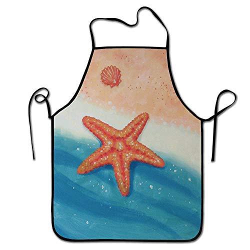 LarissaHi Mode-Design, Adult Chef Schürze, Restaurant Durable Baking Bib Schürze, Halten Sie die saubere Kleidung-Starfish