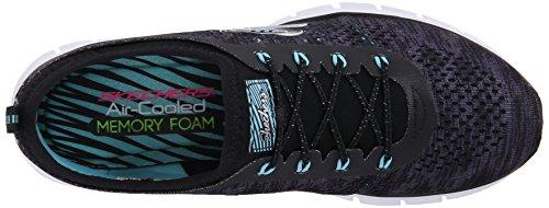 Skechers Damen GliderDeep Space Sneaker Black/Aqua