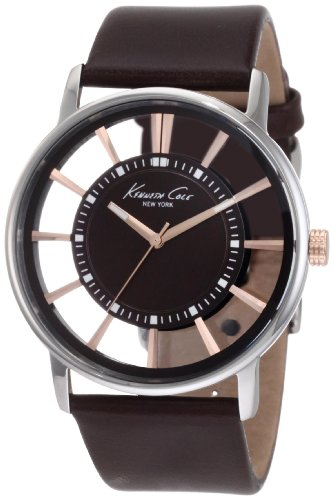 Kenneth Cole Herren-Armbanduhr Transparency Analog Quarz KC1781 (Herren Kenneth Cole Uhren Braun)
