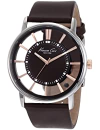 Kenneth Cole - KC1781 - Transparency - Montre Homme - Quartz Analogique - Cadran Marron - Bracelet Cuir Marron