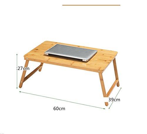Pliage Bureau Bureau desk bureau minimaliste avec dortoir paresseux Bureau d'apprentissage-étudiants des collèges ( Color : Wood , Taille : 60*30*27cm )