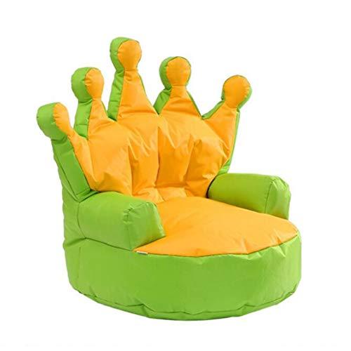 Canapés Pouff Sofa De Tissu des Enfants Tapisserie D'ameublement Portative Fauteuil Pouf Simple D'intérieur Applicable Cadeau (Color : Green, Size : 27.5 * 25.6 * 27.5in)