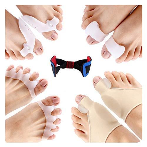 Amaoma tutore alluce valgo correttivo alluce valgo correttore silicone separatore dita piede separatore alluce valgo aiuta a ridurre il dolore al piede e l'alluce valgo unisex 9 pezzi