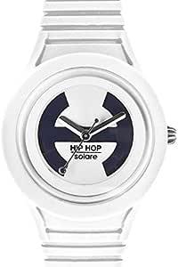 Hip Hop Watches Orologio da Donna Vanilla Soul HWU0530 Collezione Solare Cinturino in Silicone Impermeabile 5 ATM Cassa 34mm Bianco