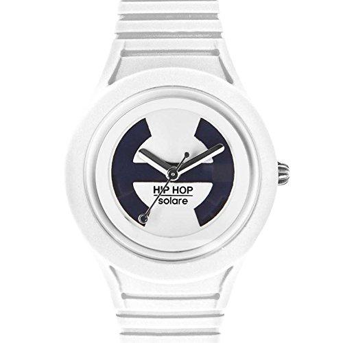 Hip Hop Watches - Orologio da Donna Vanilla Soul HWU0530 - Collezione Solare - Cinturino in Silicone - Impermeabile 5 ATM - Cassa 34mm - Bianco