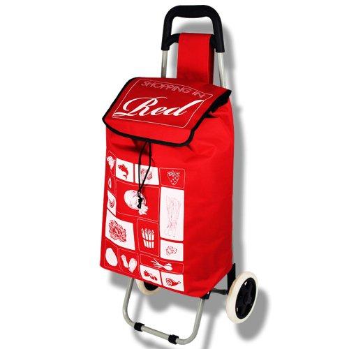 Einkaufstrolley - Trolley - Einkaufsroller - Shoppingtasche mit Farbauswahl (rot)