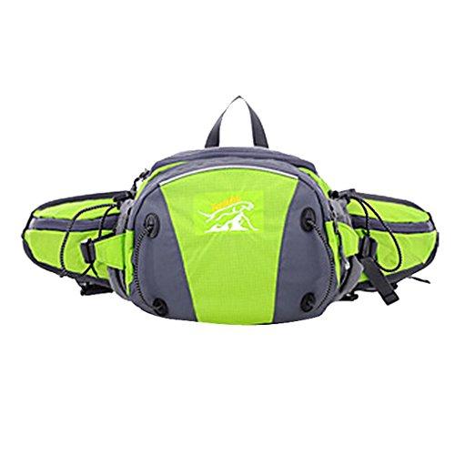 Imagen de 2 en 1 multi funcional riñonera deportiva impermeable para deporte al aire libre  bolsa deportiva bolso del cintura bolso de mensajero con correa alcochada al hombro ajustable  verde alternativa