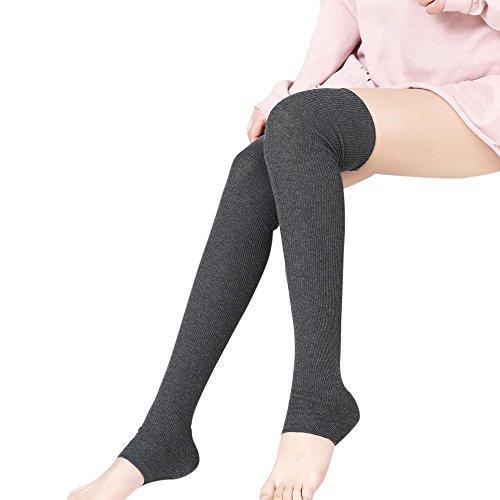 FIRSS Frauen Stulpen Kniestrümpfe   Elastisch Kniestrümpfe   Hoch Über das Knie Hohesocken   Over Knee Sportsocken   Einfache Modisch Socken