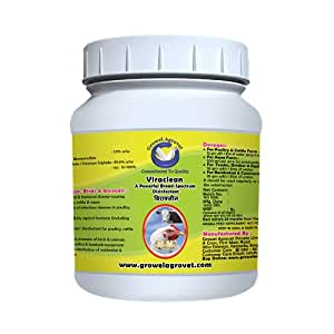 Growel Viraclean Disinfectant for Poultry, Bird, Pets and Farm Animals (500 gm)