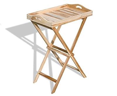 Tablett-Tisch (ECHT TEAK!) / Tabletttisch / Serviertisch / Beistelltisch