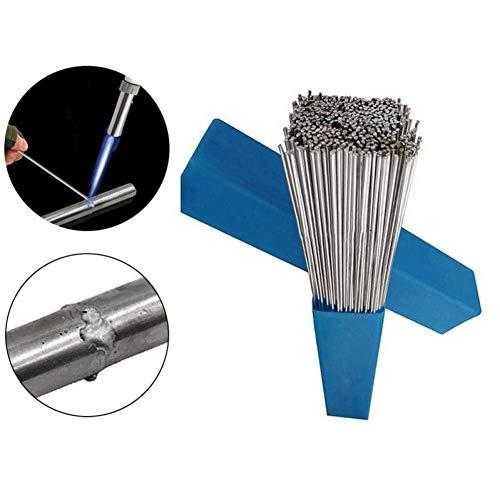 Ouken 50pcs 1,6/2 mm * 500 mm de Aluminio electrodo de Soldadura con núcleo de fundente de Baja Temperatura de Soldadura de Alambre de Aluminio electrodo (no Hay Flujo) Multi-Herramientas