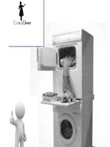 Verbindungsrahmen / Zwischenbaurahmen mit Arbeitsplatte für Waschmaschine und Trockner