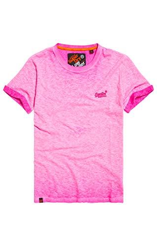 Superdry Herren Low Roller Tee Pullunder, Bright Blast Pink Zh9, Large