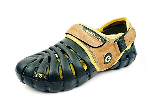 Globalite Men's Casual Sandle Parko VI Stonewash yellow Canvas Shoes-6  available at amazon for Rs.249
