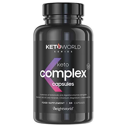 Keto Komplex Kapseln - Hilfe beim Abnehmen, Fatburner & Diät, Fit werden & schnell abnehmen, Fett verbrennen während einer Keto Diät, Original Keto geeignet, für Frauen & Männer - 60 Kapseln