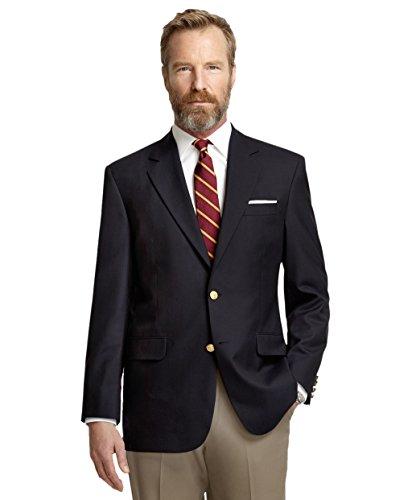 Brooks Brothers Herren Blazer Madison Fit 2 Knöpfe Marineblau - Blau - 48 DE Kurze Schlauch - Brooks Brothers Wolle Anzug