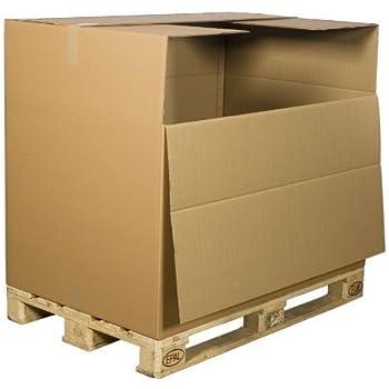 1200 x 800 x 780mm 1 palettenkarton container versandkartons faltkarton b robedarf. Black Bedroom Furniture Sets. Home Design Ideas