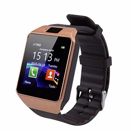 278d565fdf15d0 Piqancy Dz09 All in 1 Bluetooth Smart Watch for Smartphones (Gold)