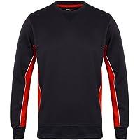 0fd8a647 Finden & Hales Mens Performance Crew Neck Sweatshirts Navy/Red/White L