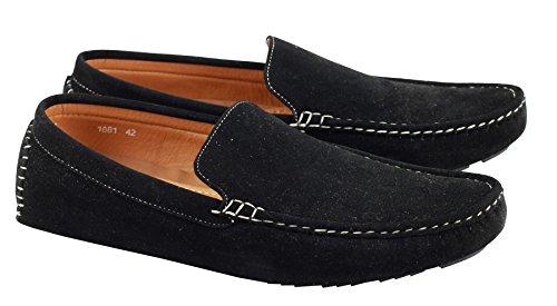 Herren Kunstleder schwarz braun Schöne Einrichtung Treiber Mokassin Slip On Sommer Schuhe Schwarz