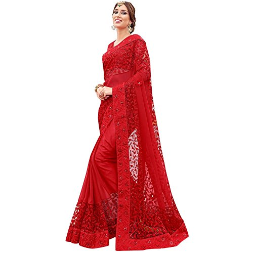 Indian Handicrfats Export Women's Faux Georgette Saree with Blouse Piece (Mcraf66349919710_Multicolor) Faux Georgette Saree