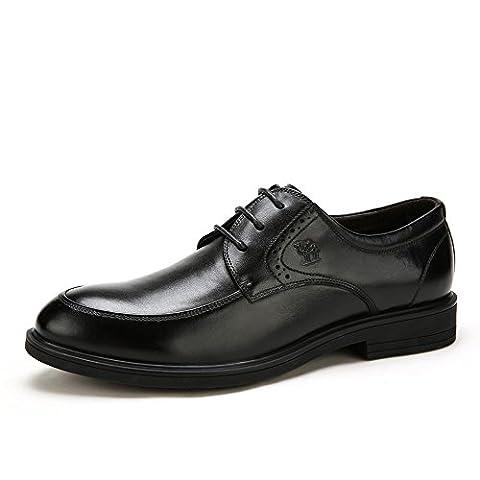 Camel Men's Oxfords Leather Shoes Color Black Size 39 M