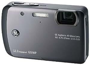 GE General Electric G5WP Digitalkamera (12 Megapixel, 4-fach opt. Zoom, 6,9 cm (2,7-Zoll) Display, Auto-Panorama, Bildstabilisator, Wasserdicht bis 5m) grau