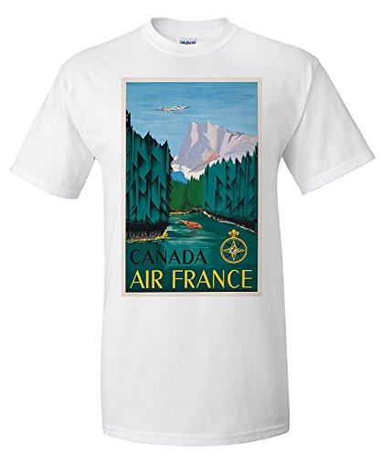 air-france-canada-vintage-poster-artist-dore-france-c-1951-premium-t-shirt
