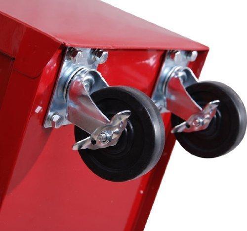 Homcom® Fahrbarer Werkstattwagen Werkzeugwagen Rollwagen Werkzeugkasten mit 5 Schubladen rot - 8