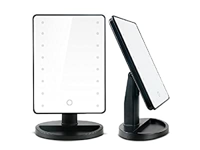 Belle Rectangular LED Illuminating Makeup Cosmetic Vanity Mirror - low-cost UK dressing table shop.