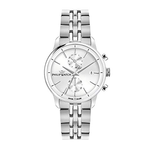 Philip Watch Men's Watch, Anniversary Collection, Quartz Movement, Chronograph, Stainless Steel Watch - R8273650003