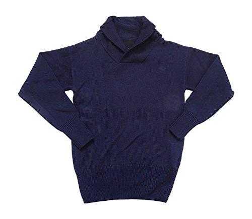 G-Star Raw correctline CL Grade scialle collo maglia L/S-Maglione di lana 86956.4430.3038Maglione brittany blue maritime knit Large