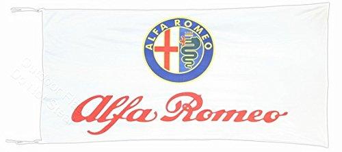 ALFA ROMEO weiß Flagge Banner 2,5x 5ft 150x 75cm -