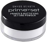 Swiss Beauty Primer Mattefying Setting Powder, Face MakeUp, Shade-01, 10g