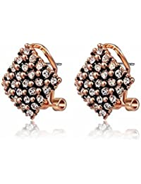 Silver Shoppee 'Mysterious me' Austrian Crystal Studded Sterling-Silver Earrings for Girls and Women