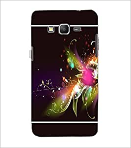 PrintDhaba Floral Pattern D-1385 Back Case Cover for SAMSUNG GALAXY GRAND PRIME (Multi-Coloured)
