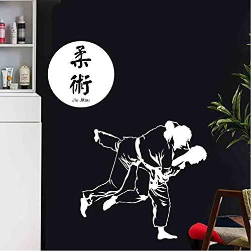 Hwhz 40X42 Cm Boxing Club Judo Taekwondo Karate Aufkleber Kick Boxer Spielen Auto Aufkleber Free Combat Poster Vinyl Stürmer Wandtattoos Dekor B