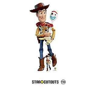 Star Cutouts SC1359 - Figura decorativa de madera y forky, diseño de Toy Story 4, tamaño real, incluye tablero de cartón de escritorio de 164 cm de alto, multicolor
