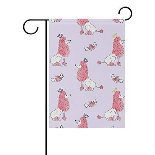 NaiiaN Garten-Flagge, doppelseitig, Motiv: Pudel, 30,5 x 45,7 cm, Banner für den Außenbereich, Polyester, Image 388, 28x40(in) -
