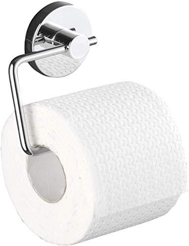 WENKO Vacuum-Loc Toilettenpapierhalter Milazzo, Befestigung ohne bohren, Stahl, 13.5 x 17.5 x 16 cm, chrom