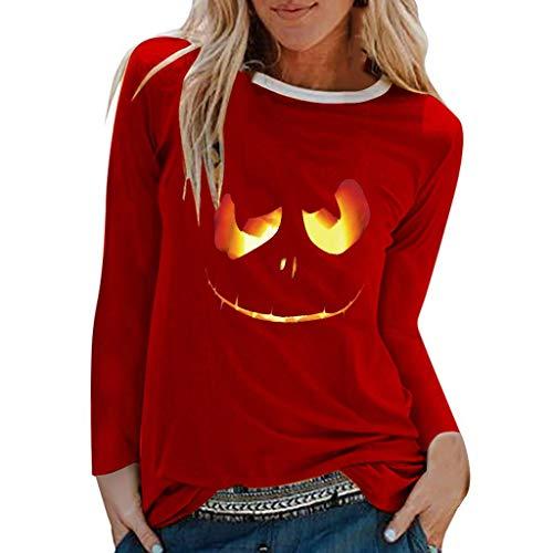 Weibliche Halloween Lange Ärmel Einfaches Drucken KaloryWee die besten Halloween kostüme,faschingskostüme Damen kostüme online (Am Besten Einfach Damen Kostüm)