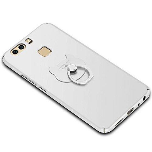 3in 1iPhone 8Plus Ultra Sottile 0.4mm Custodia Matte Case Cover + Rosso Copertura Completa Pellicola Protettiva + anello supporto, sunavy 360gradi Anti Urti Anti Graffi telefono custodia protetti argento