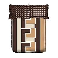 Portico Vienna Flat Queen Bedsheet Set, Multi-Colour, 224 x 254 cm