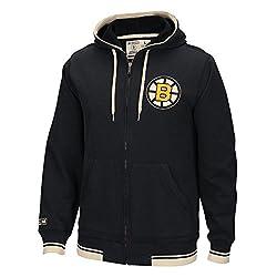 NHL Boston Bruins Mens CCM Fashion Fleece Sweatshirt, Small, Black
