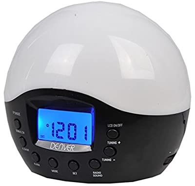 Denver CRL-300 Simulated Sunrise Wake Up Light Alarm Clock & Nature Sounds Alarm Clock With Sunrise and Sunset Features