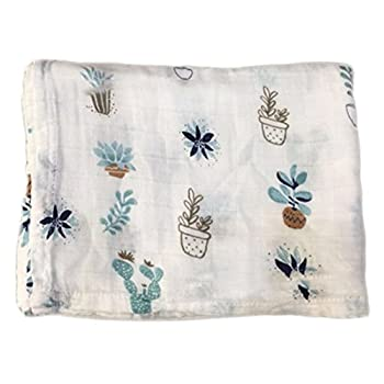 Baby Bamboo Blanket Muslin Swaddle Blanket, Soft Organic Boys & Girls Bath Towel By Kingmia (H02) 0