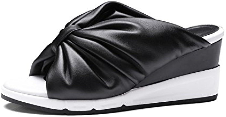 les chaussures de de de cuir printemps automne bowknot simples sandales pantoufle sexy wedge talon mesdames chaussures pour le bureau et...b07f9s9vhk parent 391767