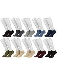 Tobeni 10 paires de chaussettes espadrille espadrilles pour les femmes les hommes et les adolescents