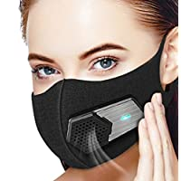 Dust Mask Electric Respirator,Beeasy Electric Air Mask N95 Sports Mask Dustproof Mask Washable For Outdoor Sports, Gardening,Travel,Craftsman Resist Dust,Germs,Allergies,PM2.5, Pollution,Pollen,Black